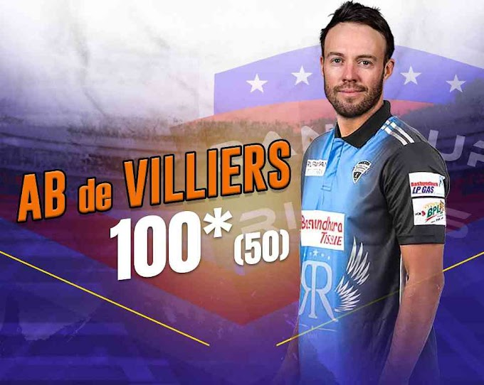 De Villiers hits a stormy century in BPL, equals Virat in this case, created 2 big records