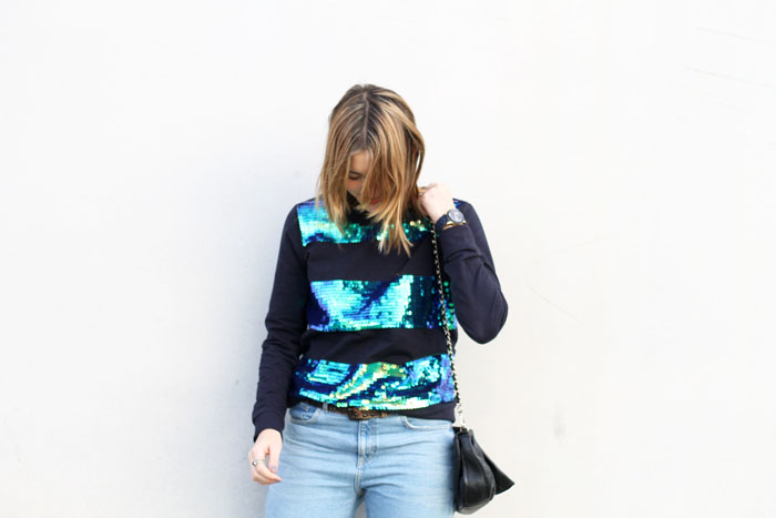 sequin sweatshirt