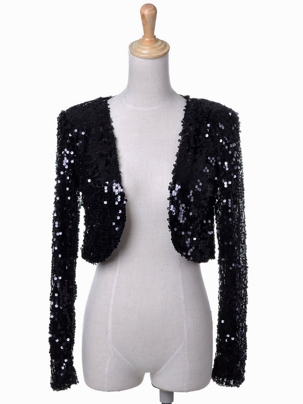 Look Glamorous In Black Sequin Jacket All About Fashion