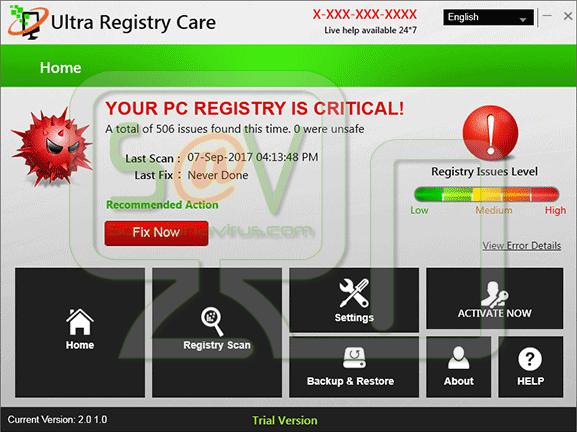 Ultra Registry Care (Falso optimizador)