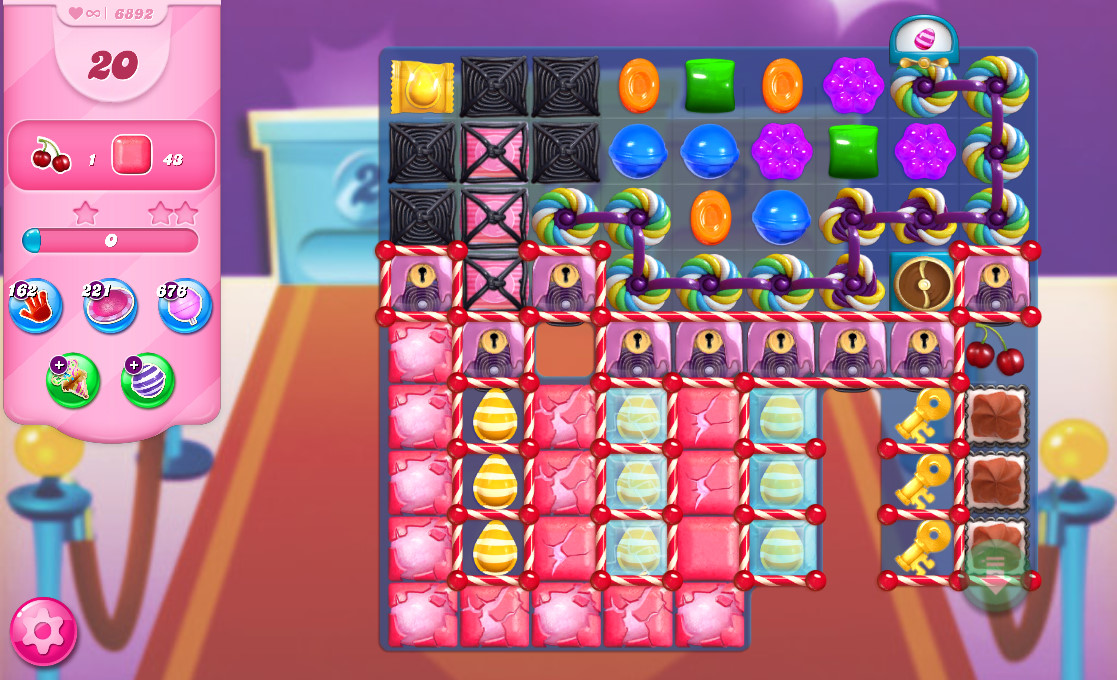 Candy Crush Saga level 6892