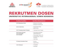 Rekrutmen Dosen Universitas Internasional Semen Indonesia
