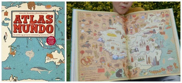 libros cuentos infantiles naturaleza, Atlas del mundo maeva young