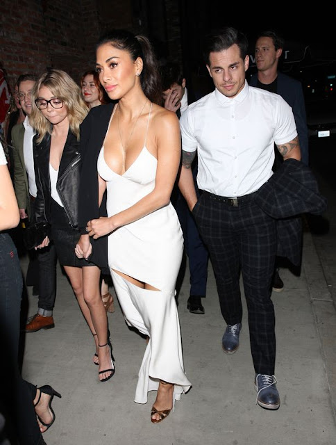 Nicole Scherzinger and Casper Smart leaving Dirty Dancing Premier together