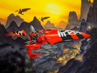 RIchard Wright's Eldar Jetbike - Vivid Red