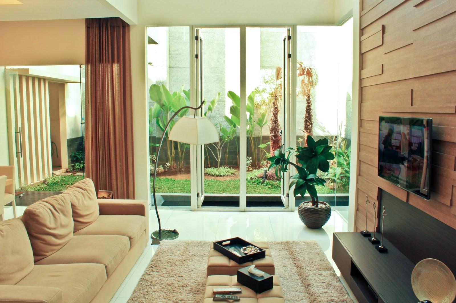 Design Dapur  Menyatu  Dengan  Taman Wallpaper Dinding