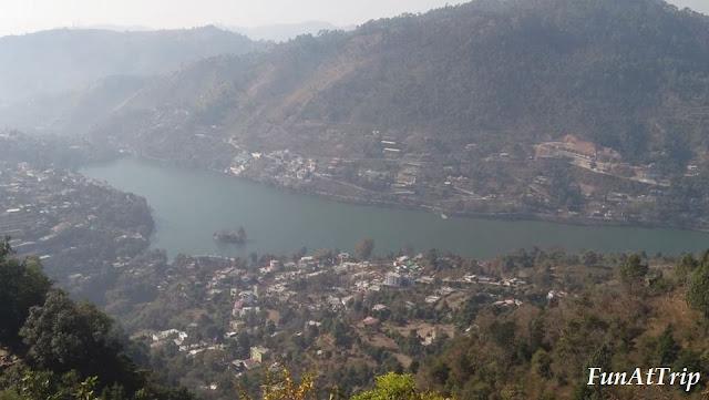 View of Bhimtal Lake from Karkotak hill