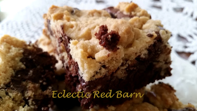 Eclectic Red Barn:  Cookie Dough Brownies