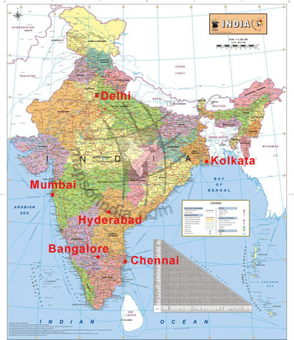 Free Map of India