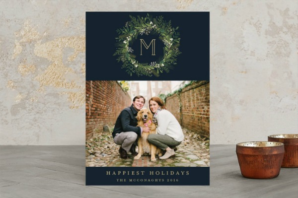Minted classic holiday card