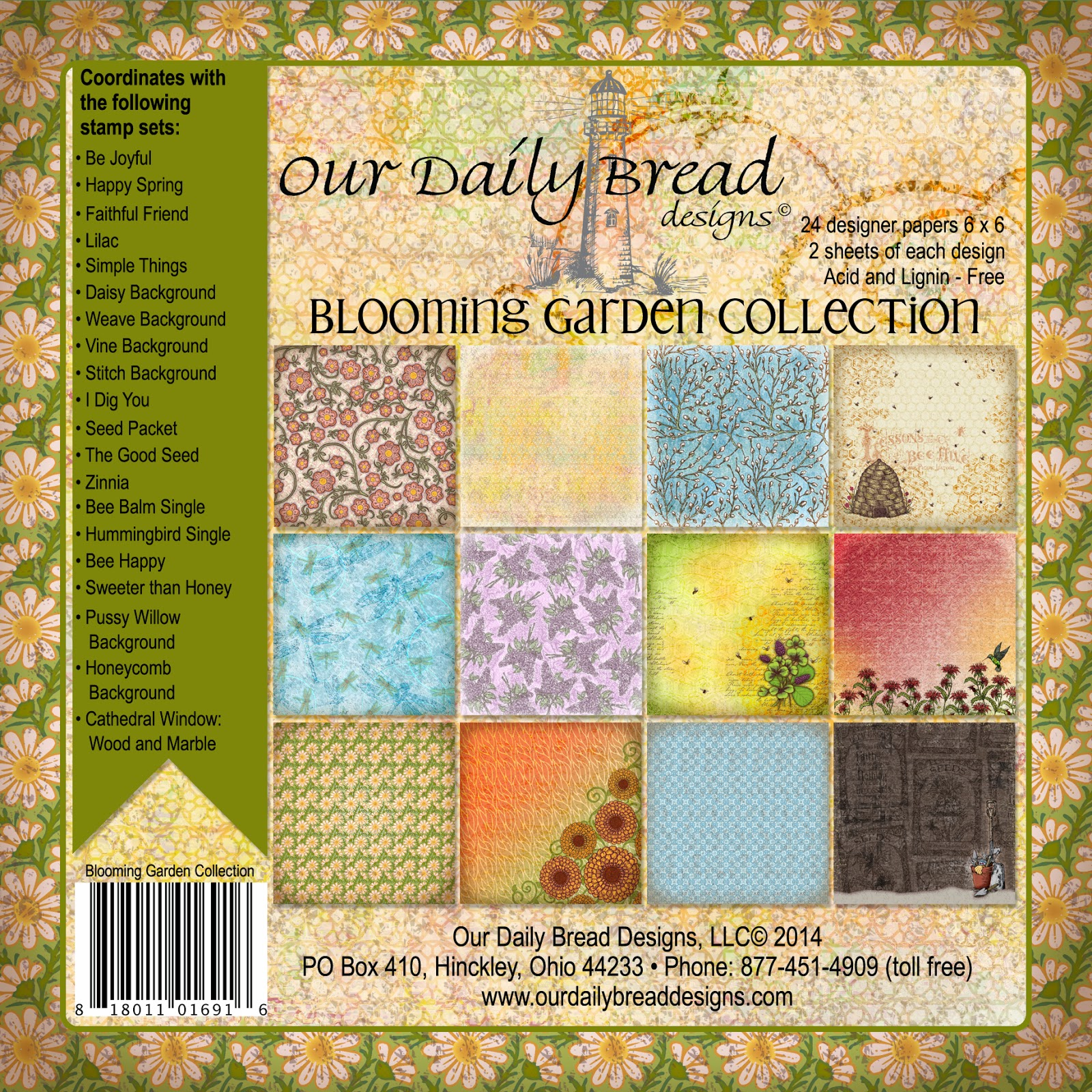 ODBD Blooming Garden Collection Designer Paper