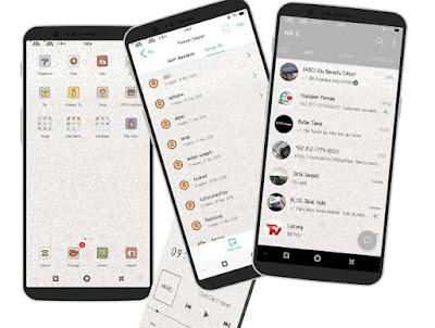 Tema Oppo Terbaru Elegan Silver Untuk Oppo A83, A3S, F5, F7, Realme