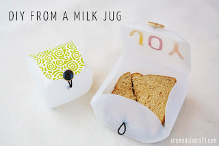 Image: DIY: Lunchbox Container from a Milk Jug