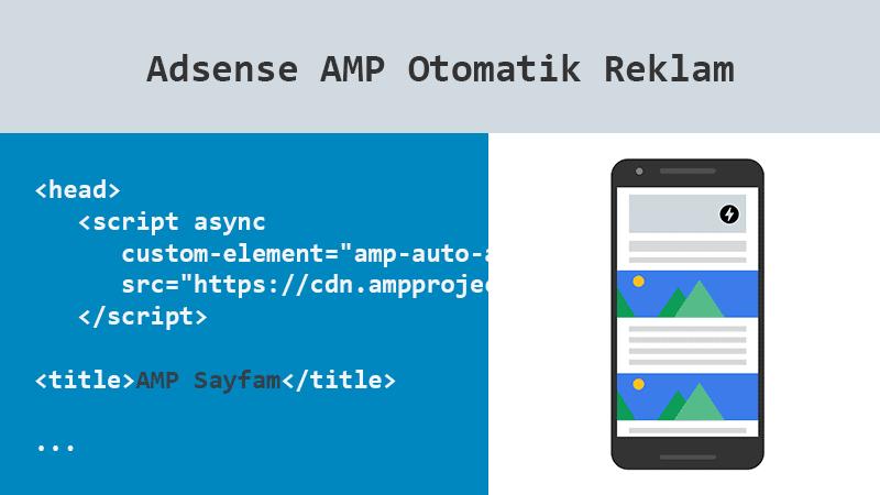 Adsense AMP Otomatik Reklamları Etkinleştirme