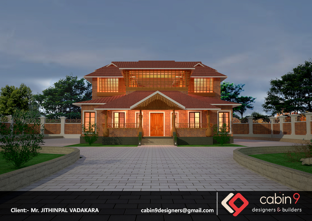 South Indian new simple house model plan image