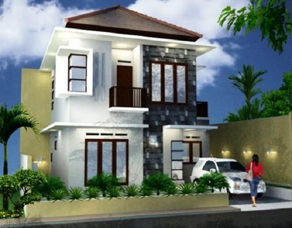 Desain Rumah Type 45 Minimalis 2 Lantai Elegan