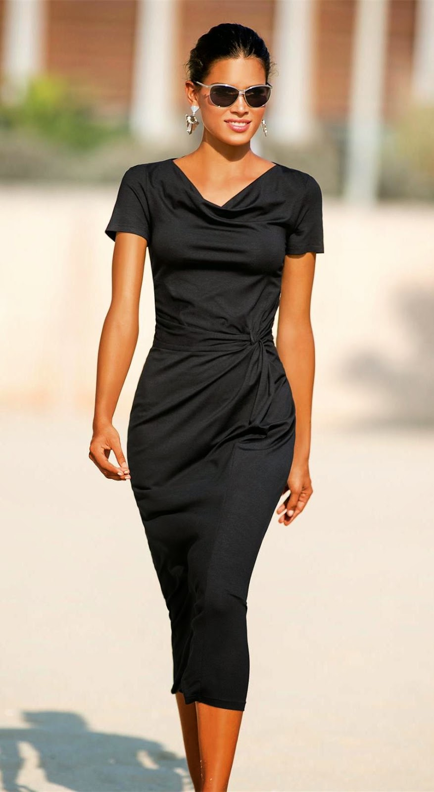 Madeleine Jersey Dress Black