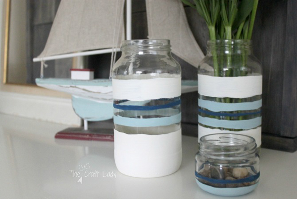 Nautical Striped Jars