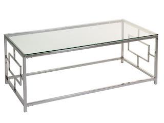 mesa centro moderna acero cristal