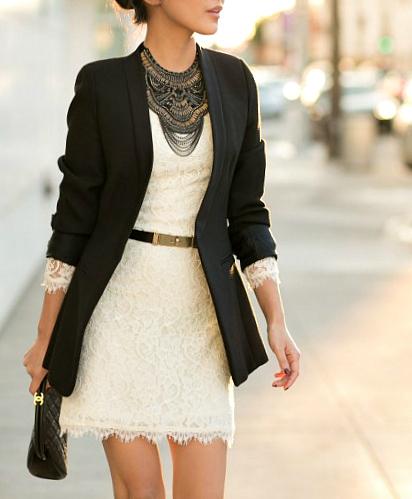 blazers y vestidos