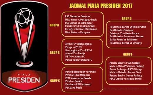 Jadwal Pertandingan Piala Presiden 2017