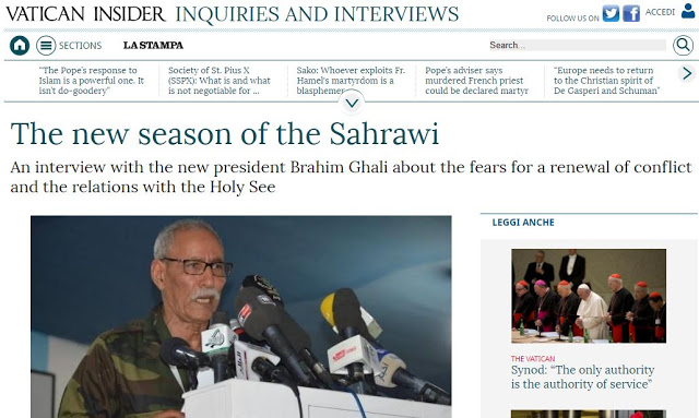 Saharawi President's interview with Italian newspaper La Stampa