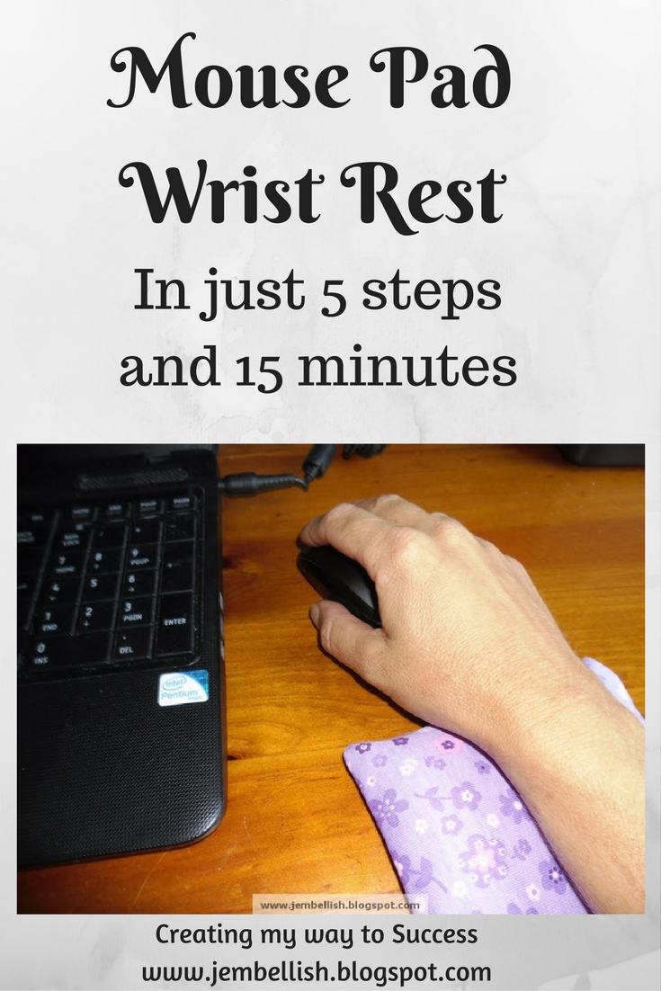 creating my way to success how to make your own mouse pad wrist rest in 5 steps and 15 minutes