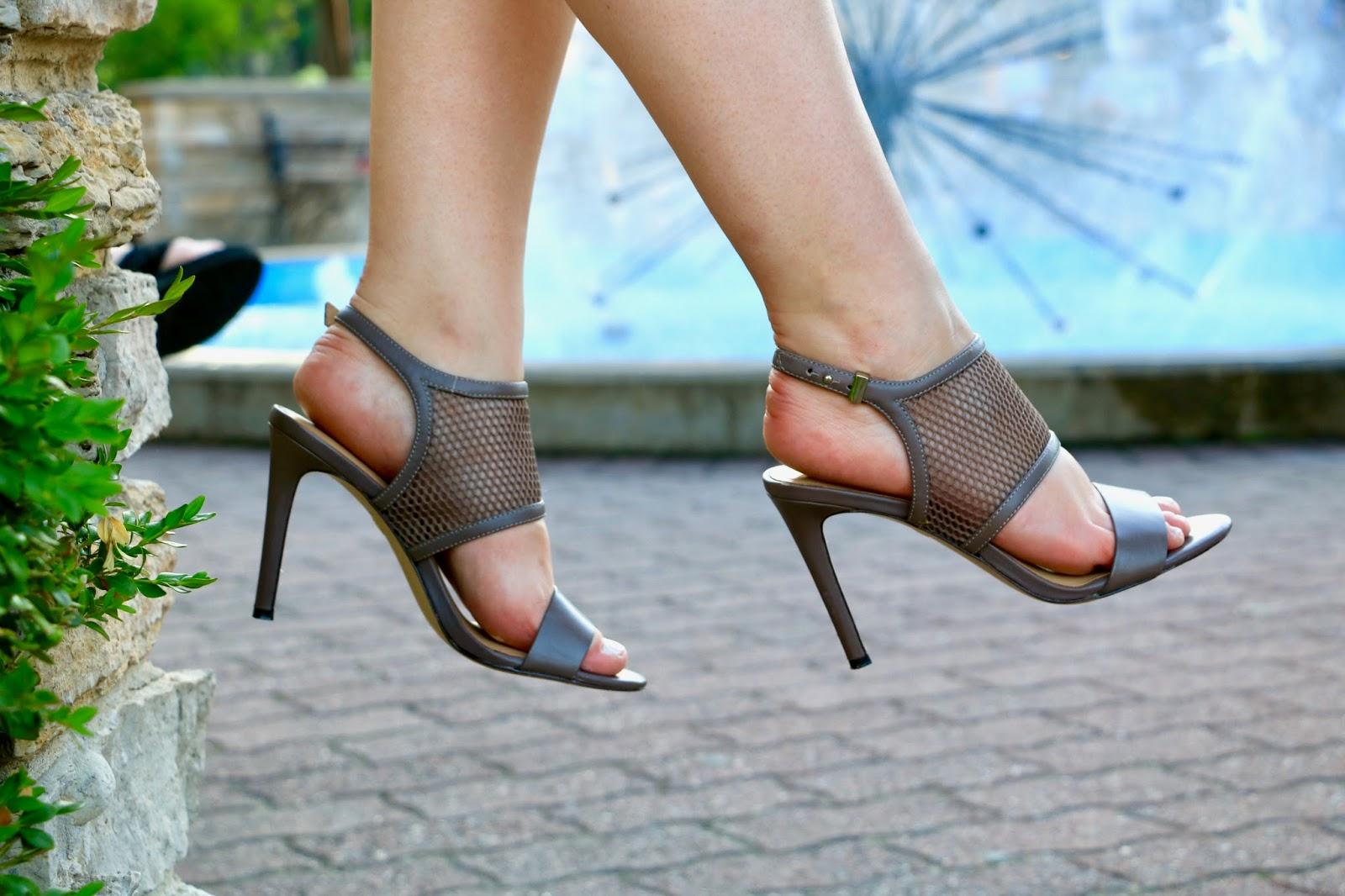 Mesh high heels