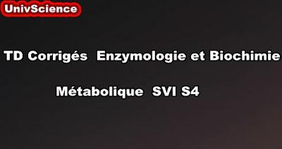 TD Corrigés Enzymologie et Biochimie Métabolique SVI S4 PDF