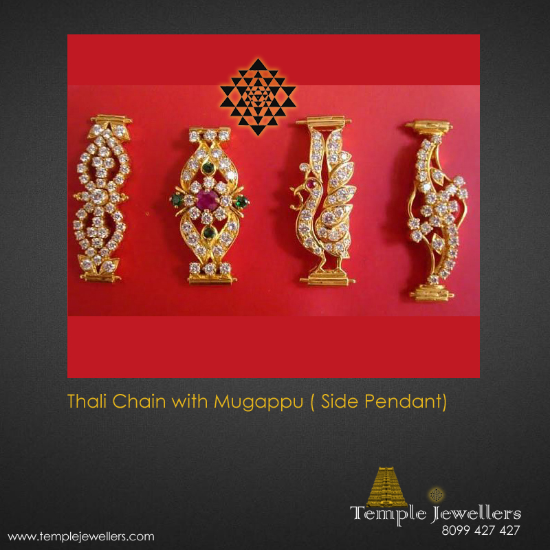Thali Chain With Mugappu Side Pendant Designs