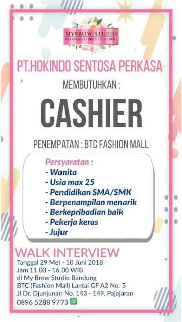 Lowongan Kerja Cashier BTC Fashion Mall