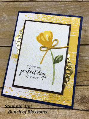 Stampin' Up! Bunch of Blossoms with Color Theory Designer Series Paper created by Kay Kalthoff with Stamping to Share.