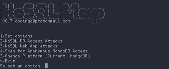 NoSQLMap - Open Source dan Attack NoSQL Databases