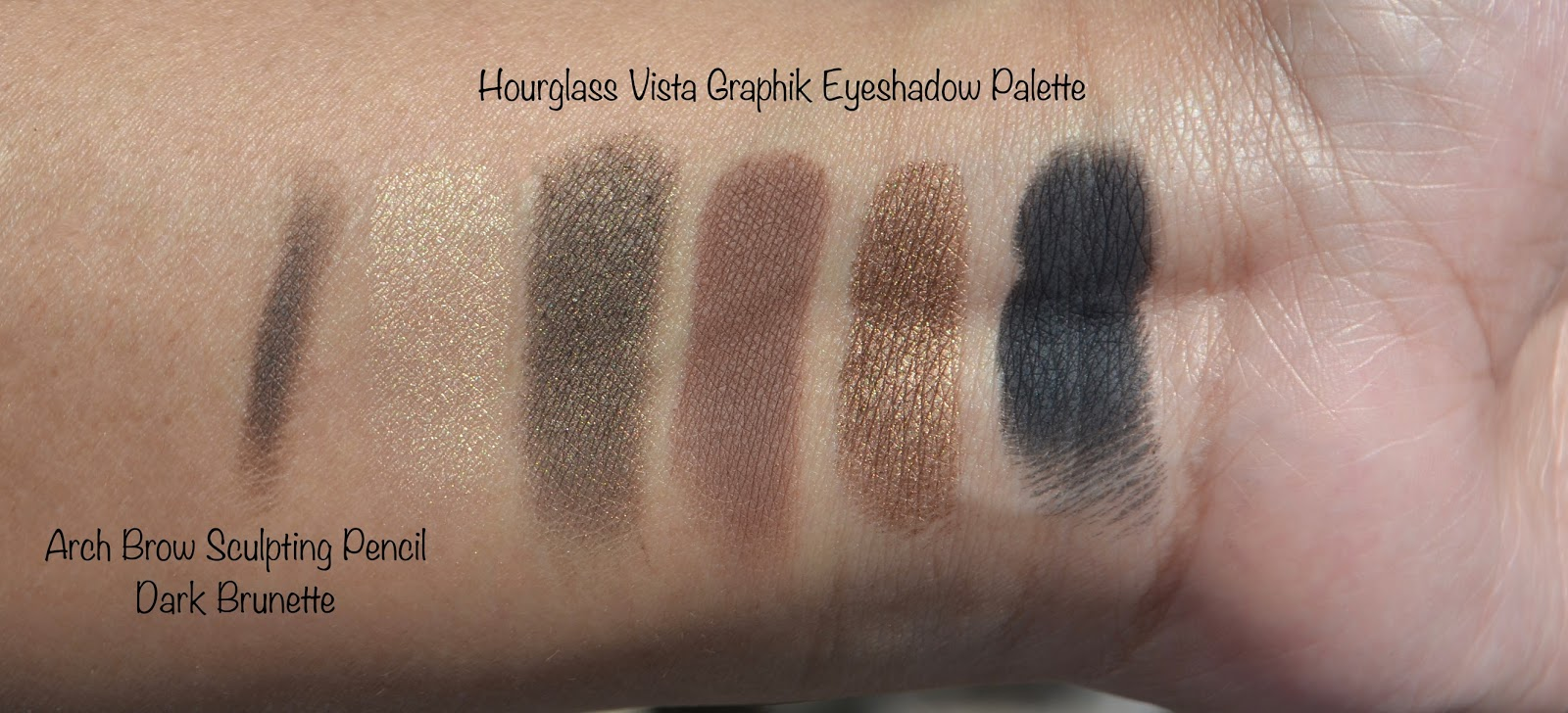 Hourglass Cosmetics Vista Graphik Eyeshadow Palette Swatches