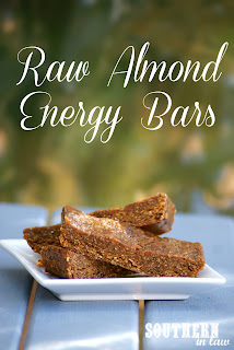 Raw No Bake Almond Energy Bars Recipe Gluten Free Vegan