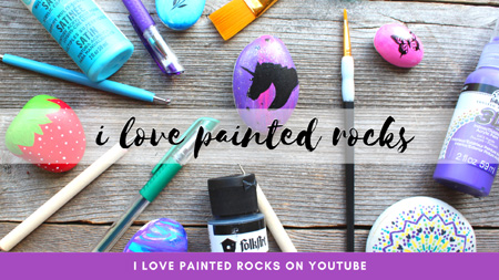 I love painted rocks YouTube channel for rock painting videos