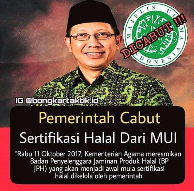 """Klarifikasi Info Kurang Benar """"Pemerintah Cabut Sertifikasi Halal Dari MUI"""""""