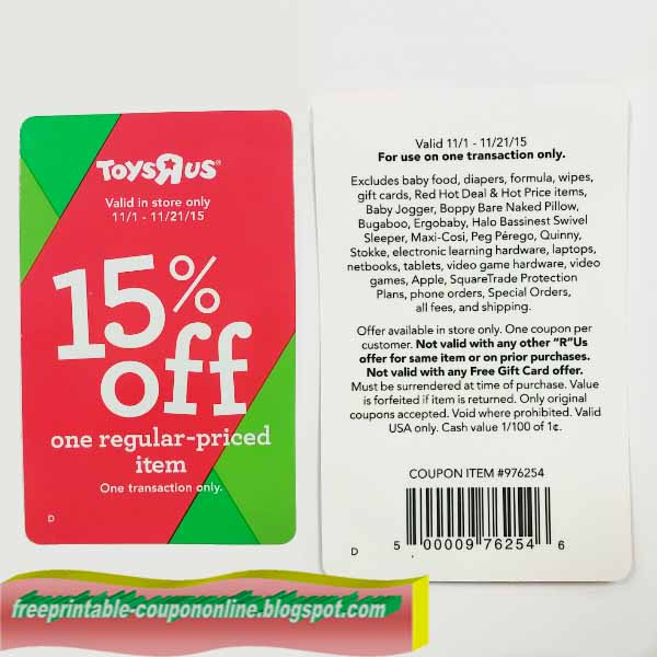 picture relating to Printable Toysrus Coupon known as Printable discount coupons for toys r us : Fox information store