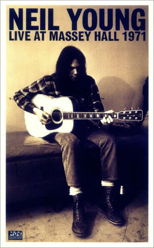 Classic Music Television presents live filmed takes of Neil Young at Massey Hall Theatre in 1971