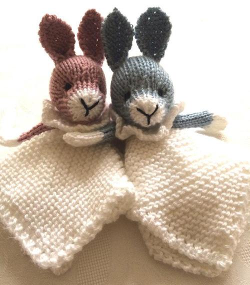 Bunny Mini Cuddly Blankie - Free Pattern