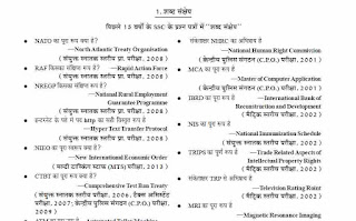 Last 15 Years Important Gk Questions In Hindi PDF Download