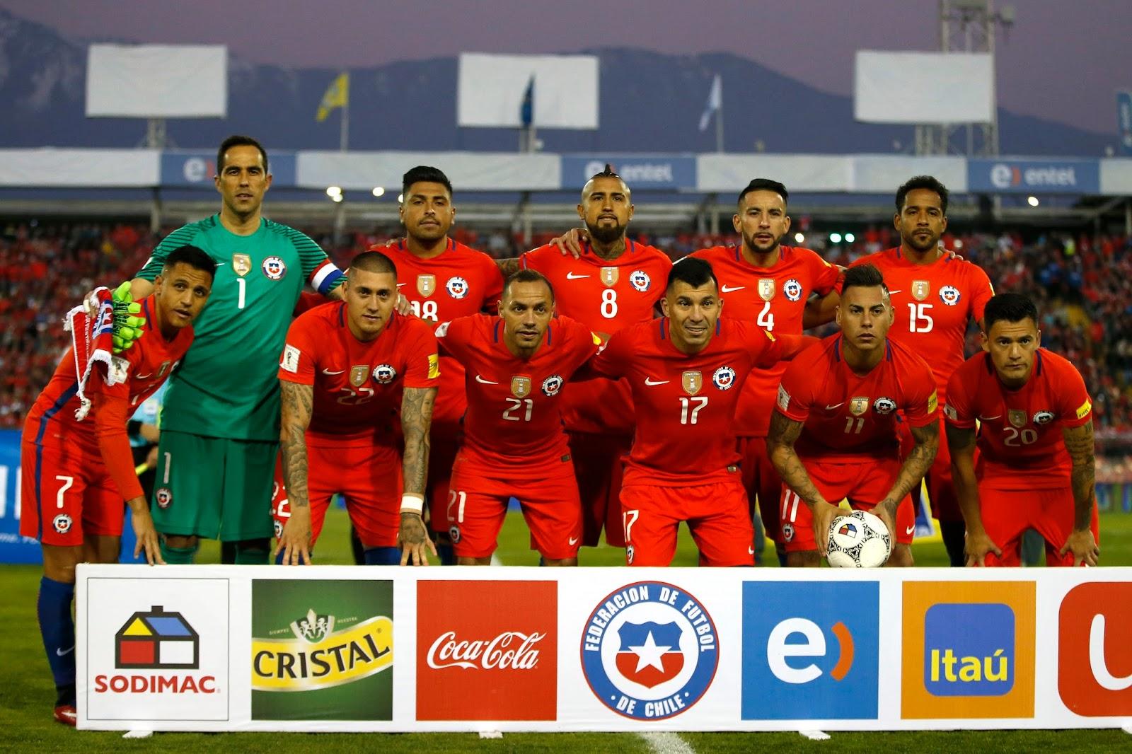 Formación de Chile ante Paraguay, Clasificatorias Rusia 2018, 31 de agosto de 2017