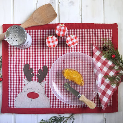 Tovaglietta colazione renna rudolph