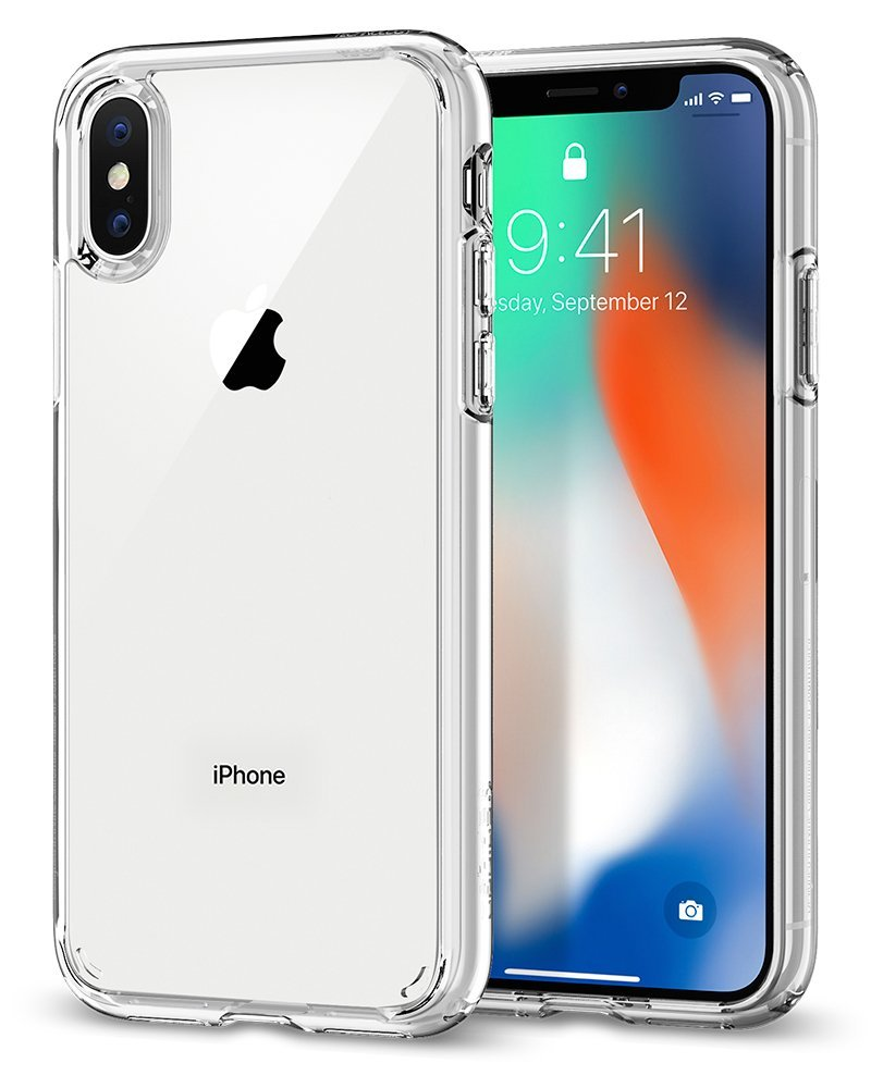 56d5d2eb438 Spigen Ultra Hybrid Funda Transparente - Fundas para teléfonos móviles  (Funda, Apple, iPhone X, Transparente)