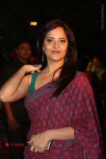 Telugu Television Anchor Anasuya Stills in Saree at Gemini TV Puraskaralu 2016 Event  0078.JPG