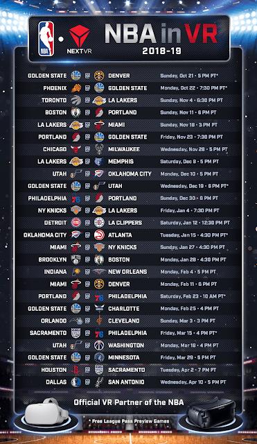 NBA 2018-19 schedule