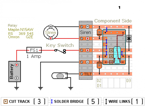 Relay Based Motorcycle Alarm Circuit Diagrams | circuitsan