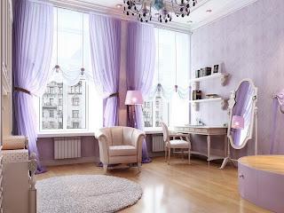 sala color lila blanco