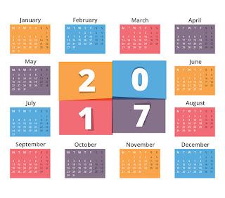 2017カレンダー無料テンプレート143