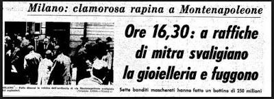 rapina montenapoleone bergamelli milano mala